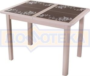 Стол кухонный Каппа ПР ВП МД 04 МД пл44, молочный дуб