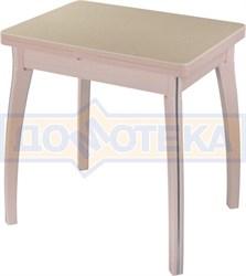Стол кухонный Реал М-2 КМ 06 МД 07 ВП МД, молочный дуб, камень песочного цвета