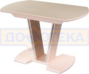 Стол обеденный  Румба ПО КМ 06 МД 03 МД, молочный дуб, камень песочного цвета