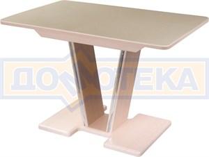 Стол обеденный  Румба ПР КМ 06 МД 03 МД, молочный дуб, камень песочного цвета