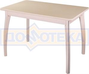 Стол обеденный  Румба ПР КМ 06 МД 07 ВП МД, молочный дуб, камень песочного цвета