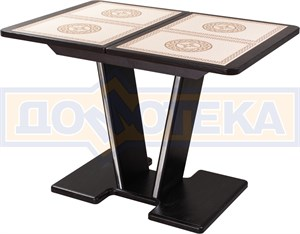 Стол с плиткой - Каппа ПР ВП ВН 03 ВН пл 52 ,венге