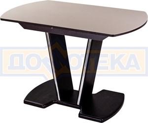 Стол со стеклом Танго ПО-1 ВН ст-КР 03-1 ВН, венге, стекло кремового цвета