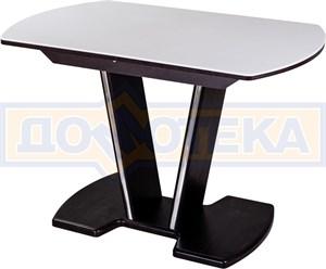 Стол с камнем - Румба ПО-1 КМ 04 ВН 03-1 ВН, венге, белый камень