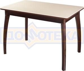 Столы с камнем Румба ПР КМ 06 ОР 07 ВП ОР, орех/камень песочного цвета