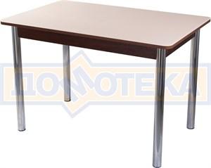 Столы со стеклом Танго ПР ОР ст-КР 02, орех/закаленное стекло кремового цвета