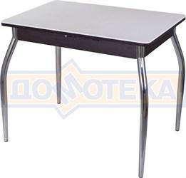 Стол с камнем Румба ПР-М 04 ВН 01, венге/камень белого цвета