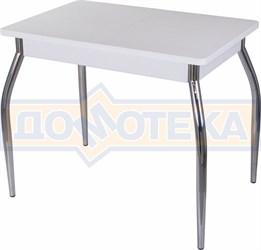 Стол с камнем Румба ПР-М 04 БЛ 01, белый/камень белого цвета