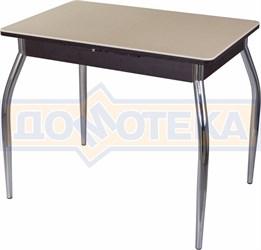 Стол с камнем Румба ПР-М 06 ВН 01, венге/камень песочного цвета