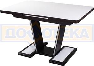 Обеденный стол с камнем Реал ПР-1 КМ 04 ВН 03-1 ВН, венге/камень белого цвета