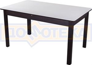 Обеденный стол с камнем Румба ПР-2 04/ВН 04 ВН венге / камень белого цвета