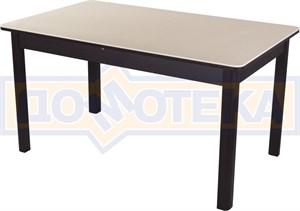 Обеденный стол с камнем Румба ПР-2 06/ВН 04 ВН венге / камень песочного цвета
