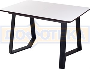 Стол со стеклом - Танго ПР-1 ВН ст-БЛ 92-1 ЧР