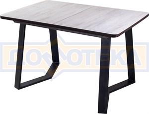 Стол Джаз ПР-1 ДБ/ВН 92-1 ЧР (Дуб беленый, ножки металл)