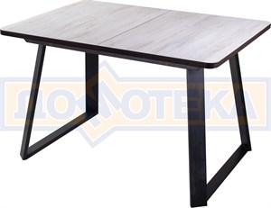 Стол Джаз ПР-1 ОБ/ВН 91-1 ЧР (Орех беленый, ножки металл)