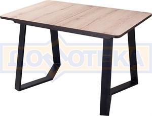 Стол Джаз ПР-1 ОС/ВН 92-1 ЧР (Орех светлый, ножки металл)