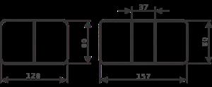 Стол Джаз ПР-1 ОС/ВН 93 ЧР (Орех светлый, ножки металл)