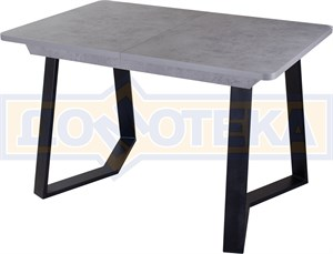 Стол Джаз ПР-1 СБ/СБ (Серый бетон) 92-1 ЧР