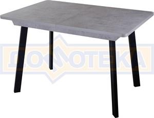 Стол Джаз ПР-1 СБ/СБ 93 ЧР (Серый бетон, ножки металл)