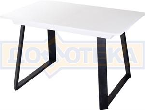 Стол со стеклом - Танго ПР-1 БЛ ст-БЛ 91-1 ЧР